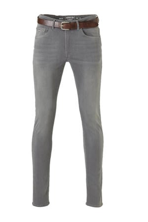 slim fit jeans Seaham Classic met riem 9700 grey