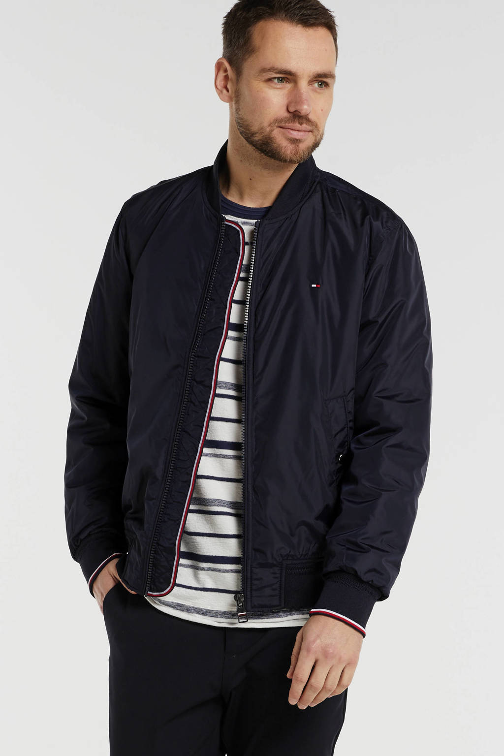 Tommy Hilfiger zomerjas donkerblauw, Donkerblauw