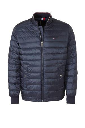 +size gemêleerde zomerjas donkerblauw