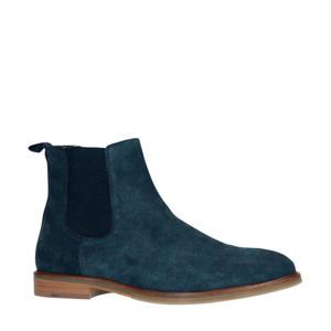 suède chelsea boots blauw