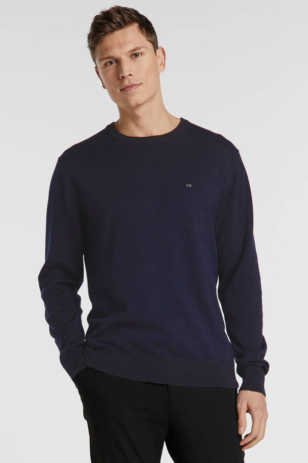 CALVIN KLEIN trui met logo zwart/wit, Zwart/wit