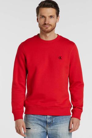 sweater met logo rood