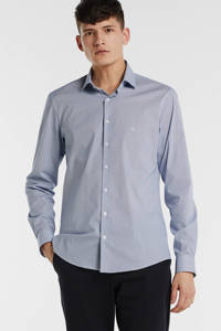 CALVIN KLEIN slim fit overhemd met all over print blauw, Blauw