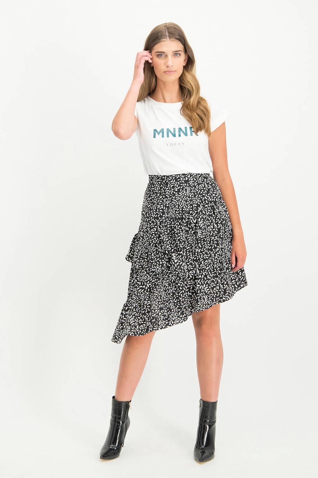 Lofty Manner T-shirt Priscila met logo wit, Wit