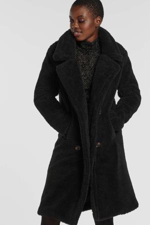 coat knoopsluiting zwart