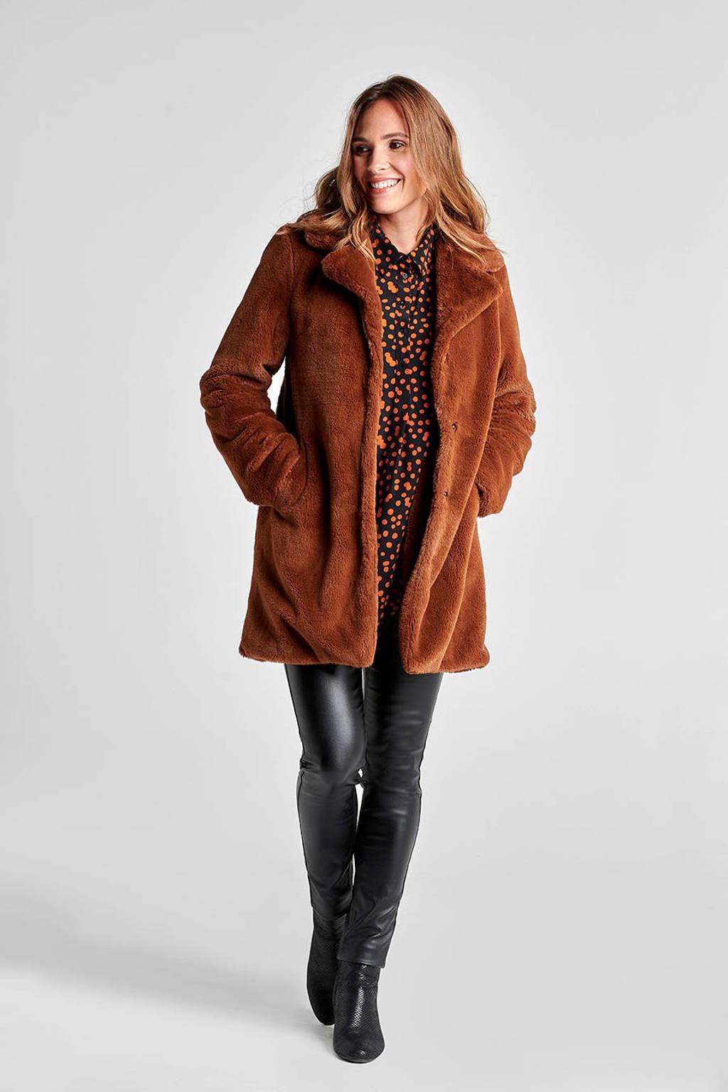 Miss Etam Regulier coat bruin, Bruin