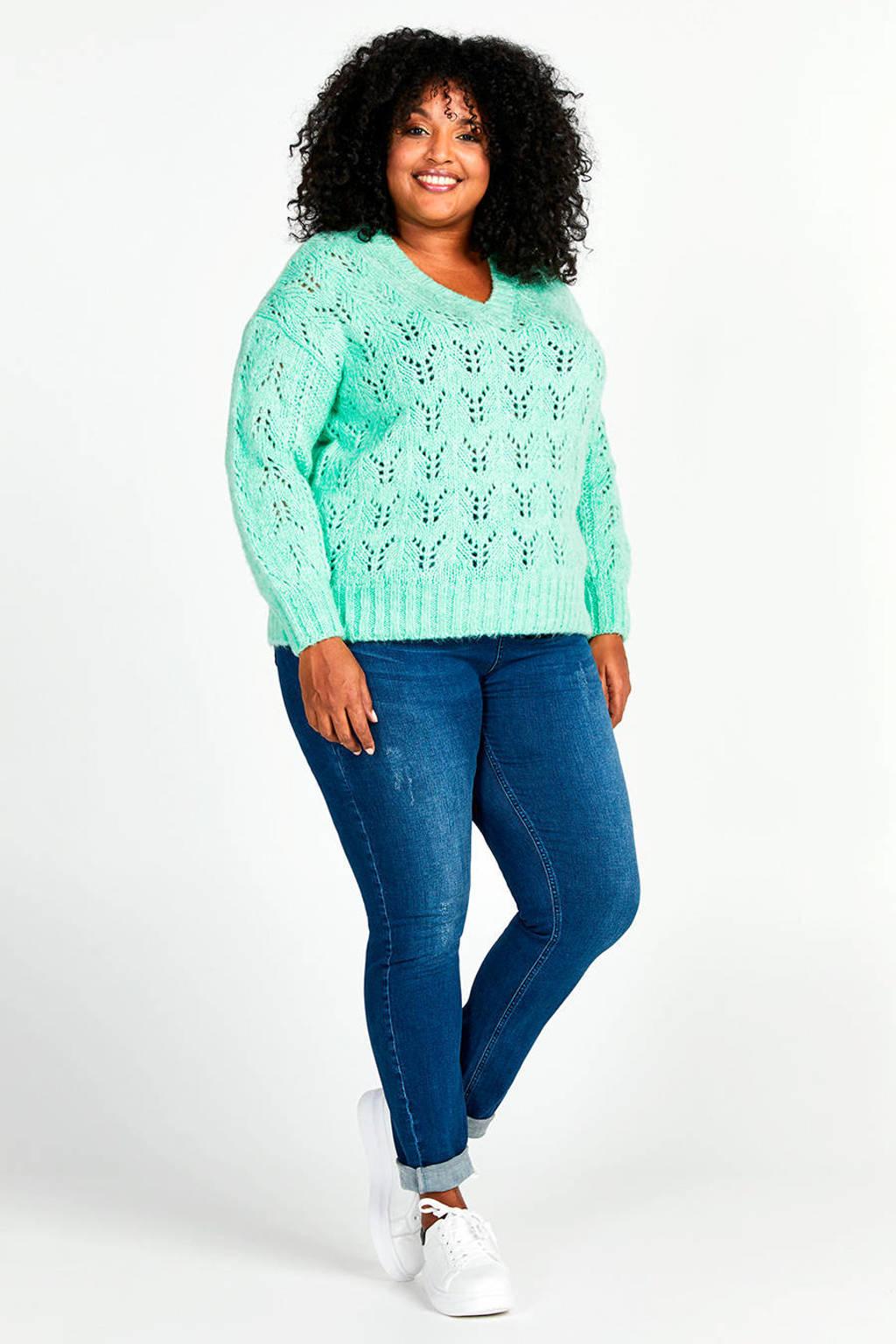 Miss Etam Plus jeans Felize shape blauw, Blauw