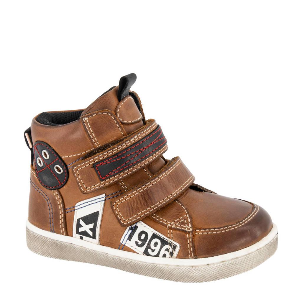 Bobbi-Shoes   leren enkelboots bruin, Bruin