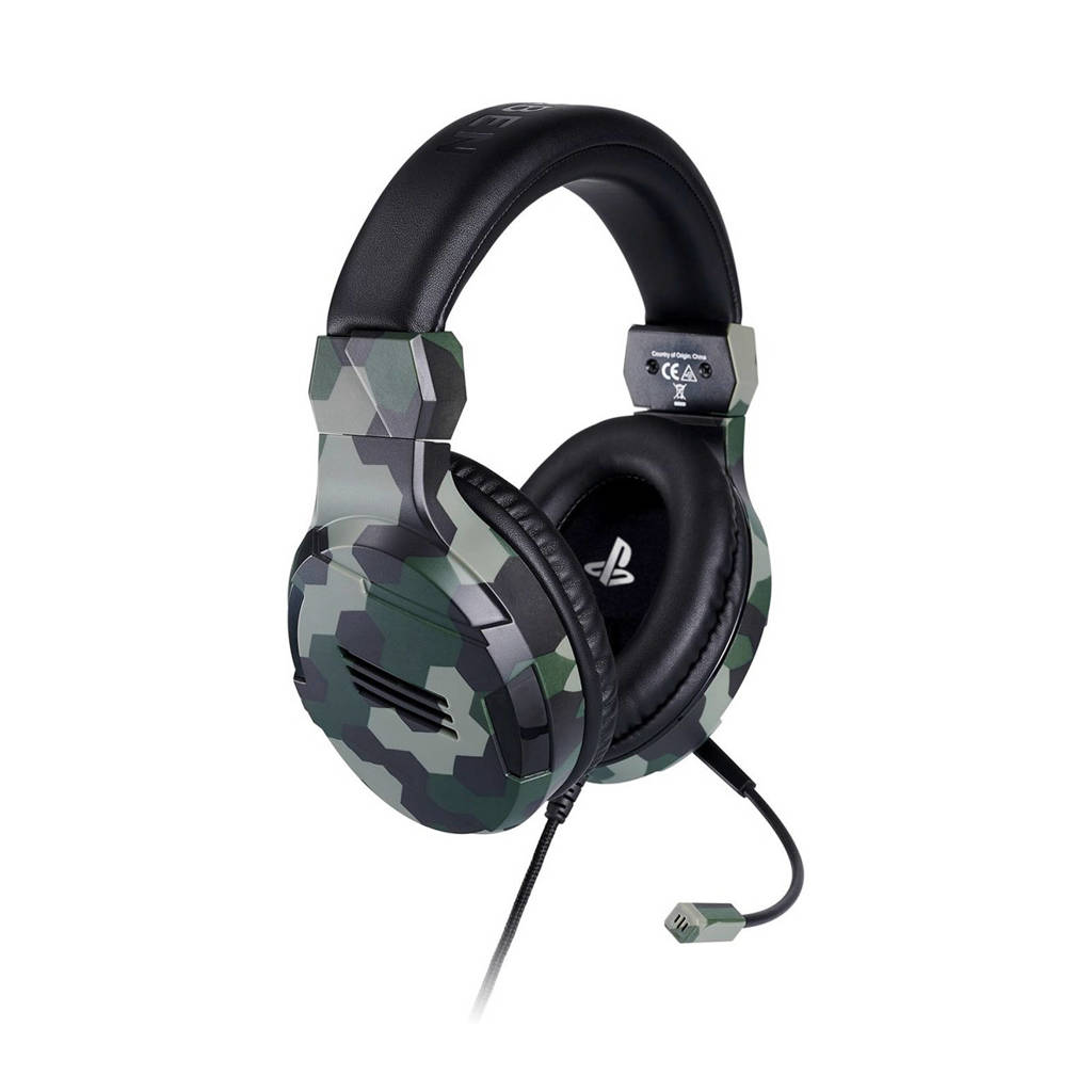 BigBen  Official Licensed PlayStation 4 Stereo gaming headset, Camouflage