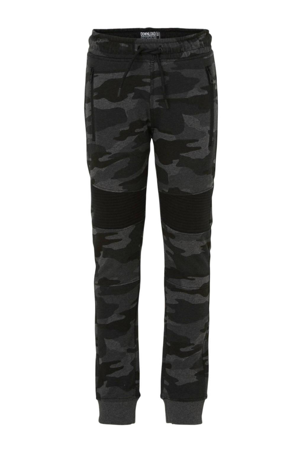 C&A Here & There skinny broek met camouflageprint grijs, Grijs