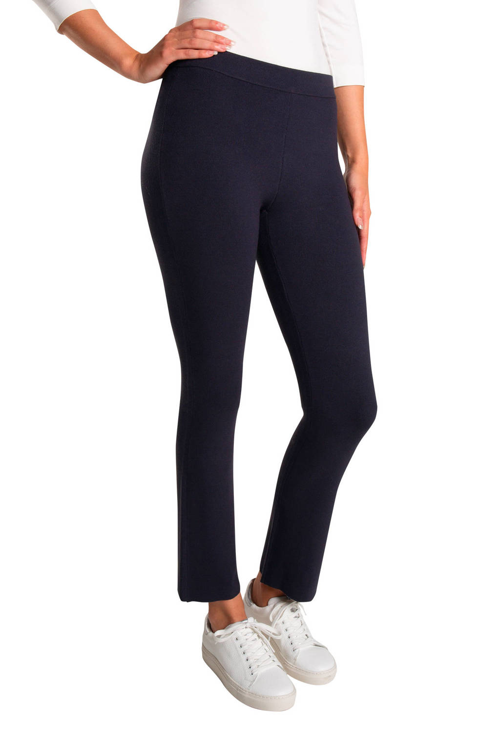Claudia Sträter flared legging donkerblauw, Donkerblauw