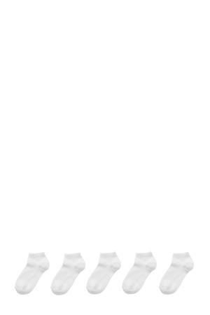 sneakersokken- set van 5 wit