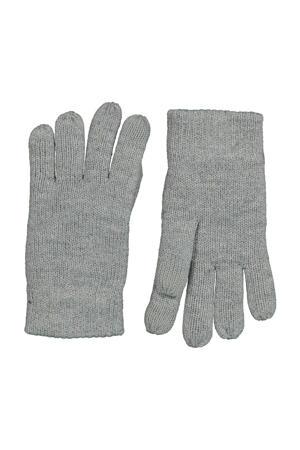 kinder handschoenen touchscreen grijsmelange