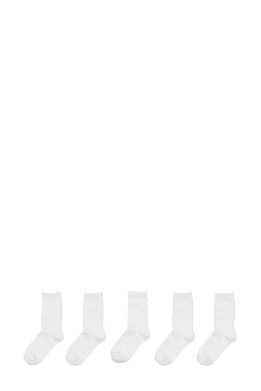 HEMA 5-pak kindersokken wit, Wit