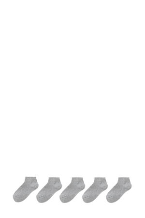 5-pak kinder enkelsokken grijsmelange
