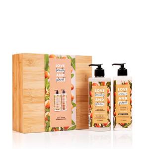 Shea Butter & Sandalwood luxe geschenkset in bamboebox (2-delig)