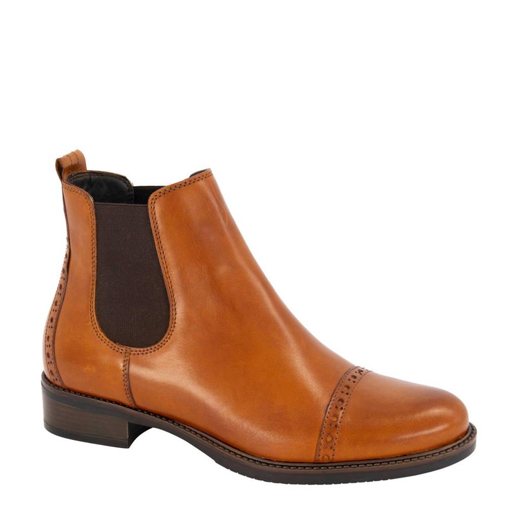 5th Avenue   leren chelsea boots cognac, Cognac