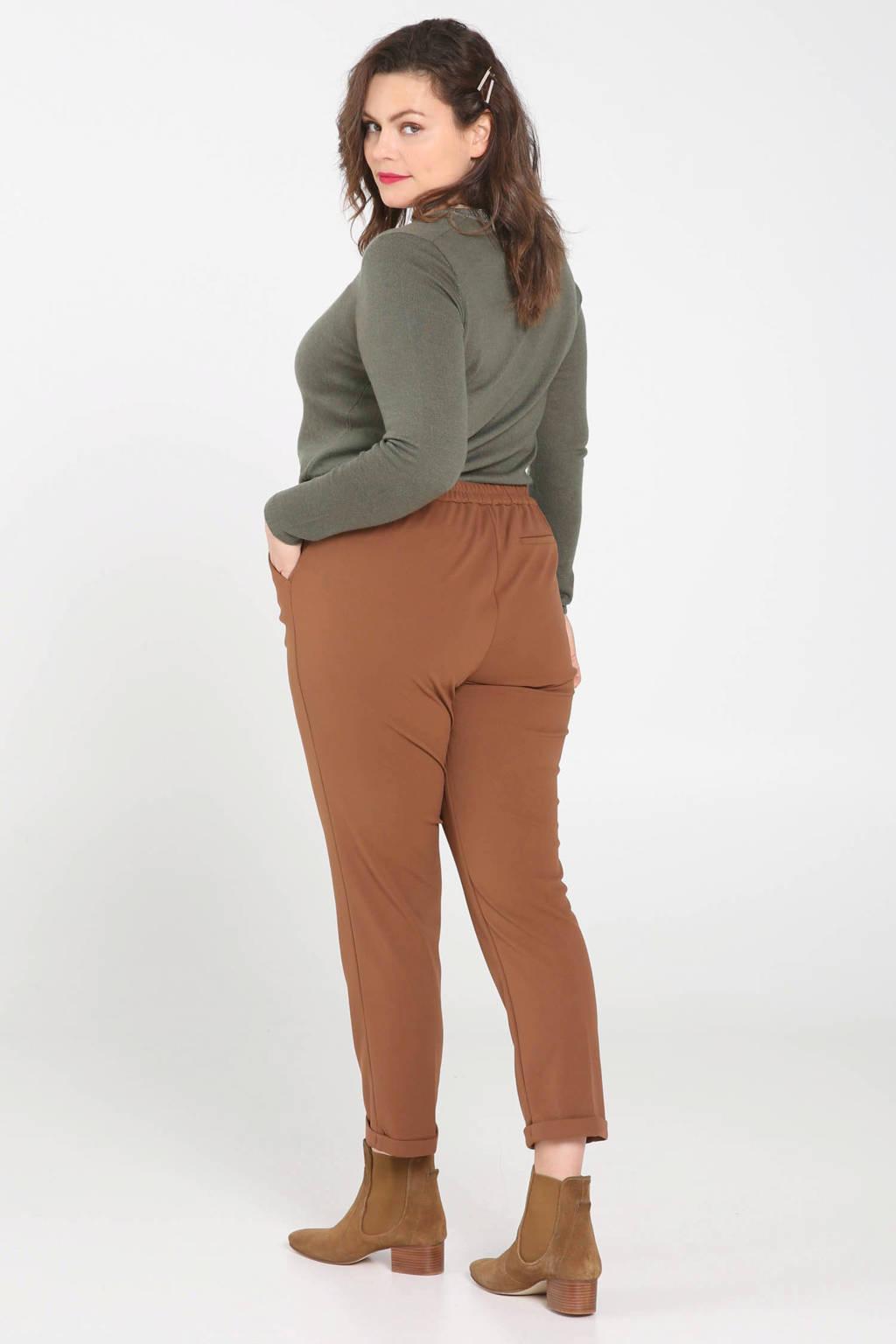Paprika slim fit pantalon camel, Camel