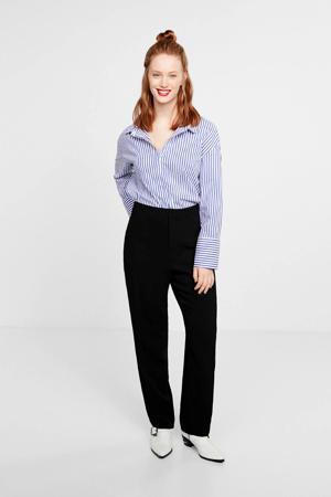 straight fit pantalon zwart