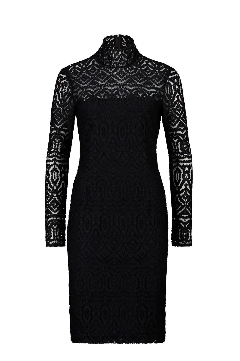 Claudia Sträter jurk met kant zwart, Zwart
