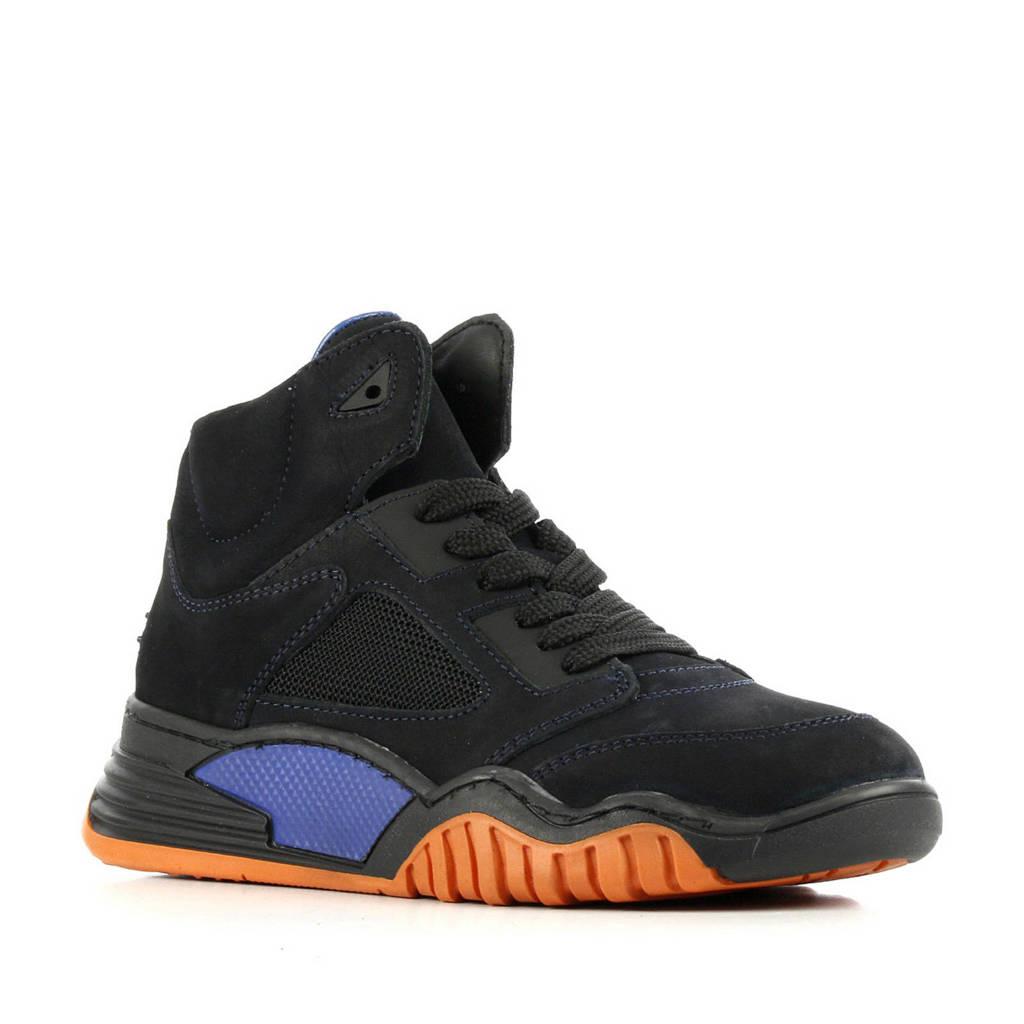 Hip H1092  suède sneakers donkerblauw, Donkerblauw