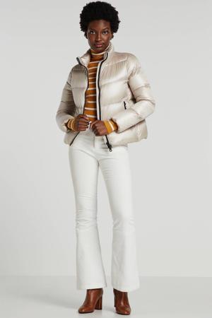 gewatteerde jas wit