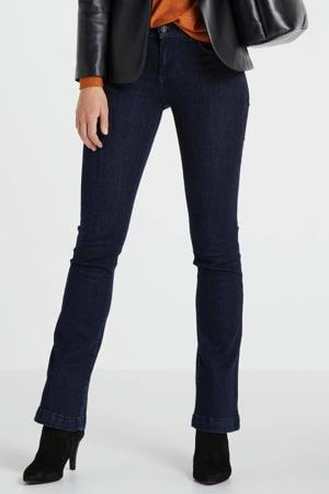 high waist flared jeans Fallon donkerblauw