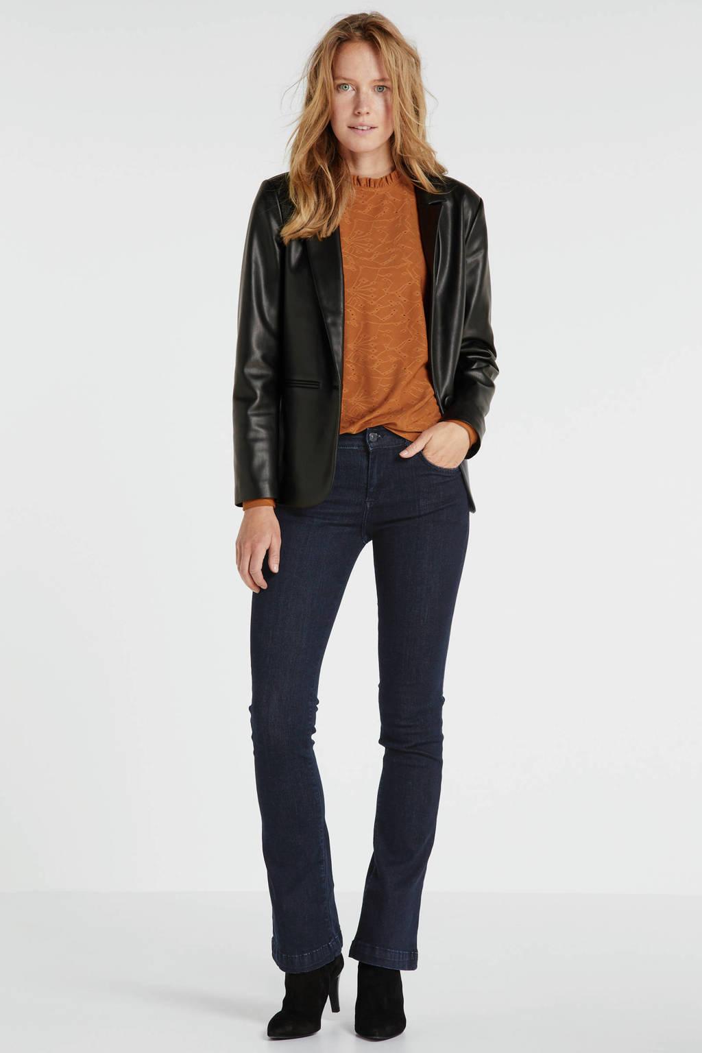 LTB high waist flared jeans Fallon donkerblauw, Donkerblauw