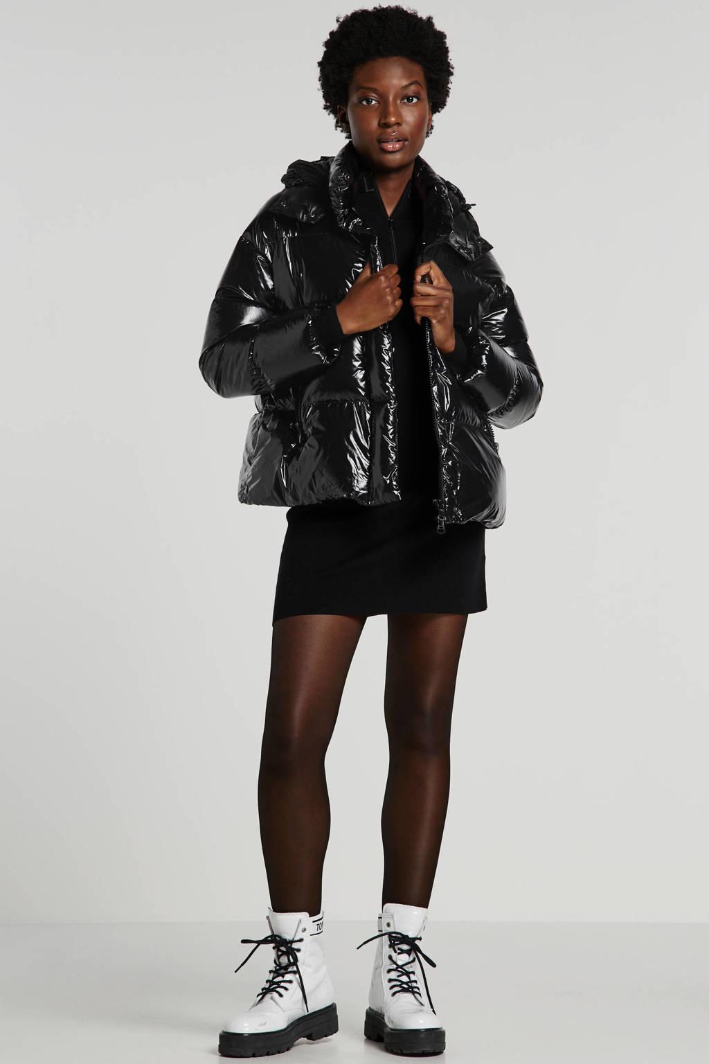 HOX gewatteerde jas zwart, Zwart