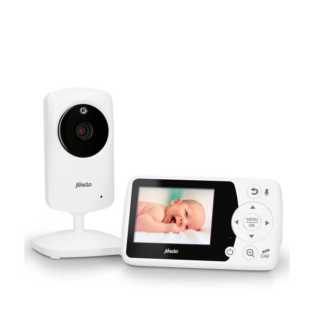 """Alecto  DVM-64 babyfoon met camera en 2.4"""" kleurenscherm, Wit"""