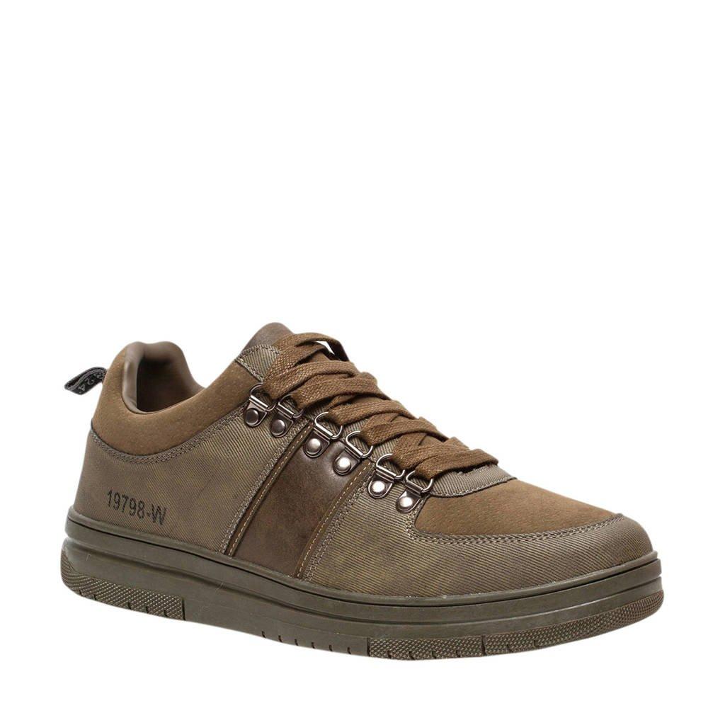Scapino Blue Box   sneakers kaki, Kaki