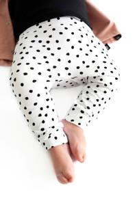 Babystyling broek wit/zwart, Wit