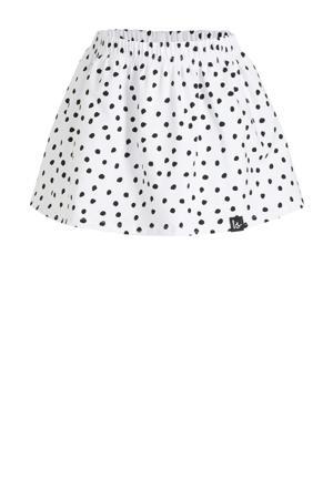 rok met stippen wit/zwart