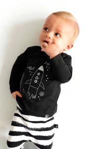 Babystyling longsleeve zwarrt/wit, Zwart