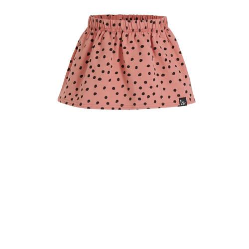 Babystyling rok met stippen roze/zwart