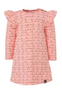 Babystyling jersey jurk roze/zwart, Roze