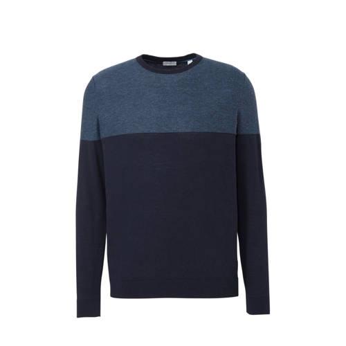 ESPRIT Men Casual fijngebreide trui blauw