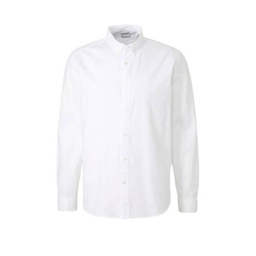 ESPRIT Men Casual slim fit overhemd wit