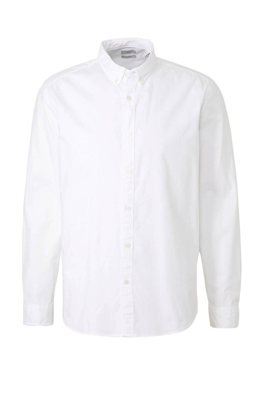 ESPRIT Men Casual slim fit overhemd wit, Wit
