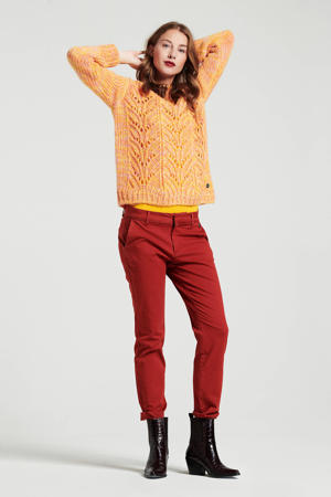 slim fit chino rood