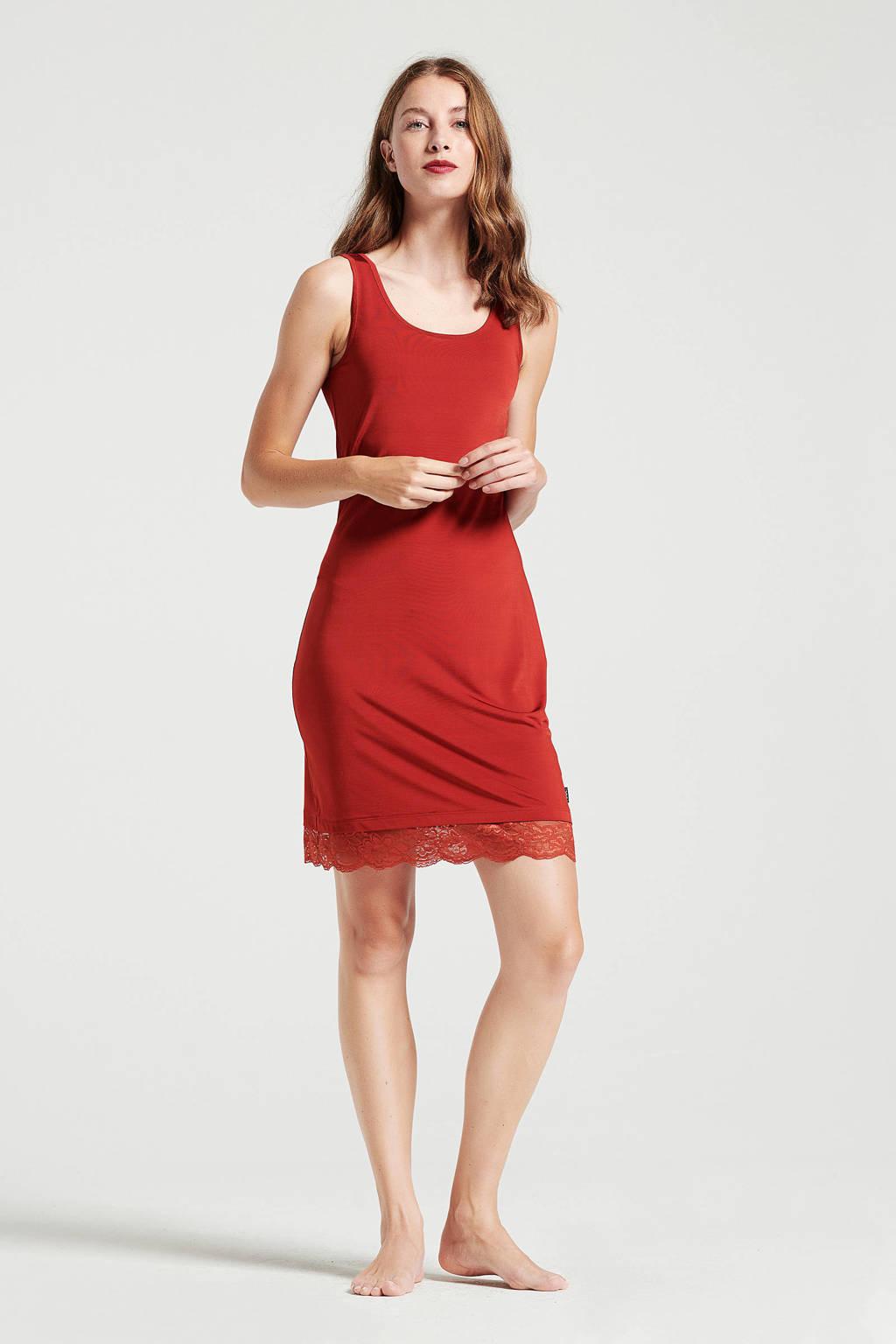 Didi jurk met kant rood, Rood