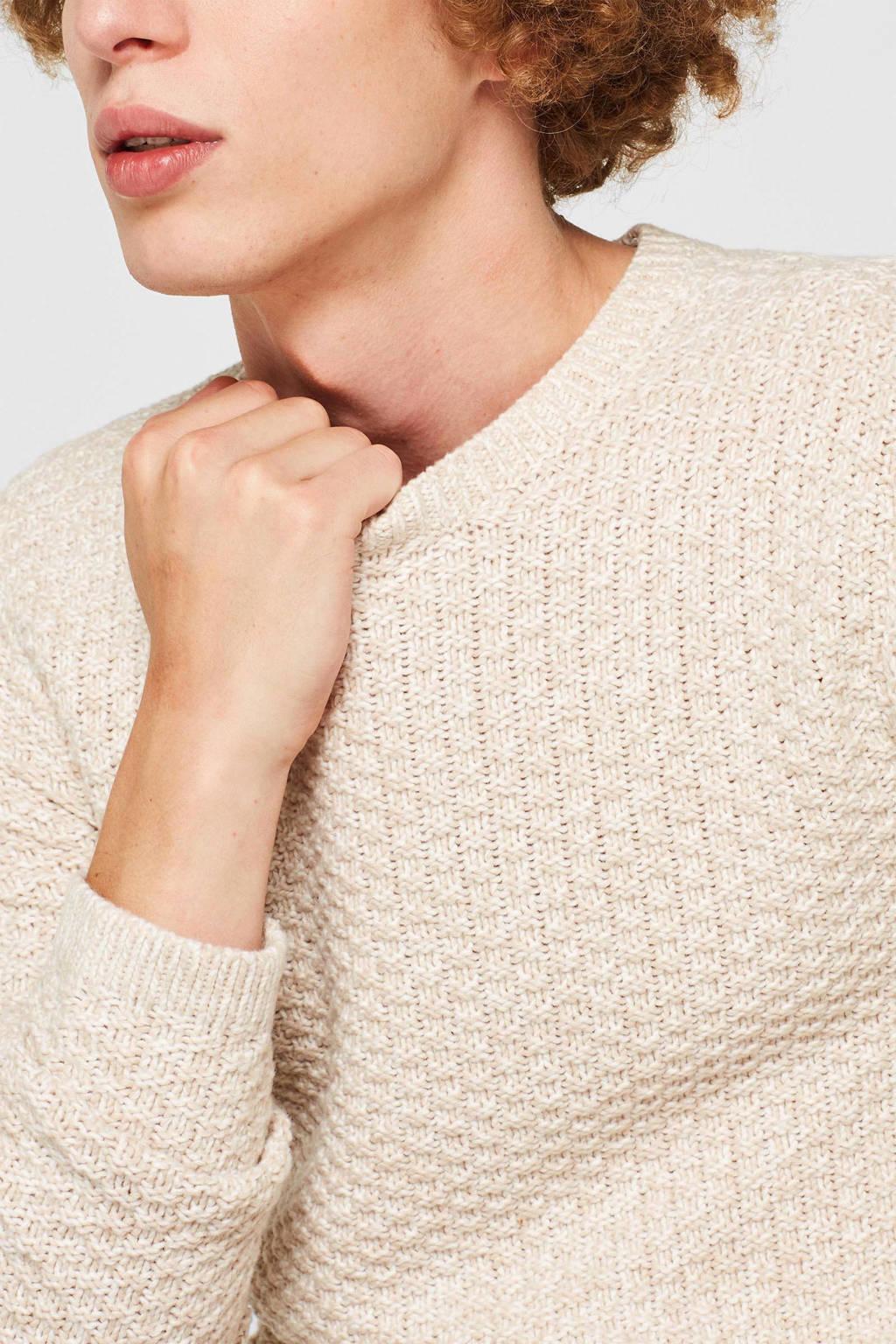 ESPRIT Men Casual trui met textuur wit, Wit