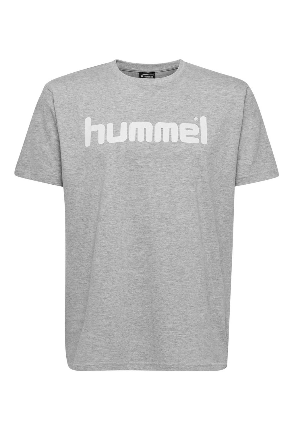 hummel T-shirt grijs melange, Grijs melange