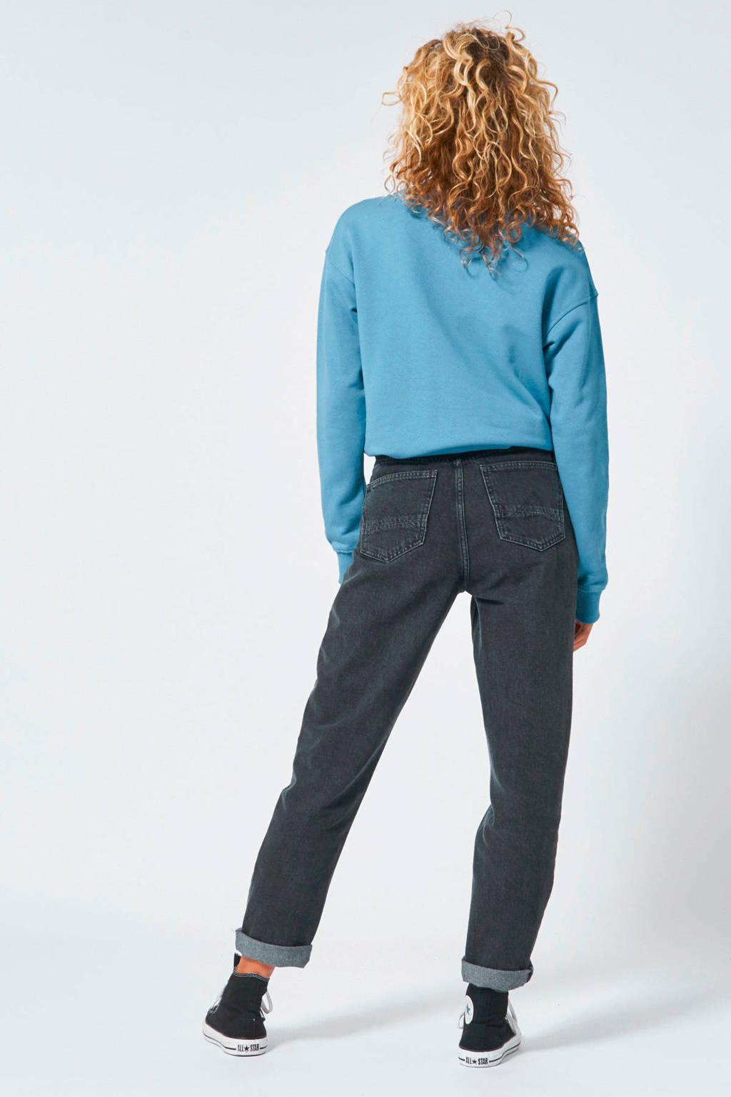 America Today sweater met tekst blauw, Blauw