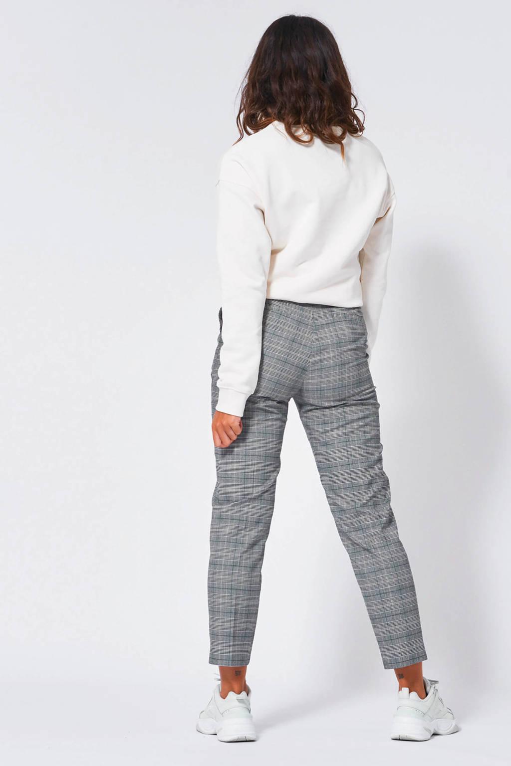America Today fijngebreide sweater met tekst wit, Wit