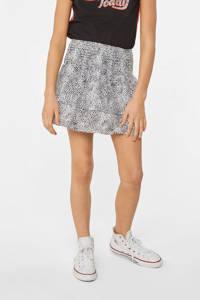 WE Fashion rok met dierenprint wit/zwart, Wit/zwart