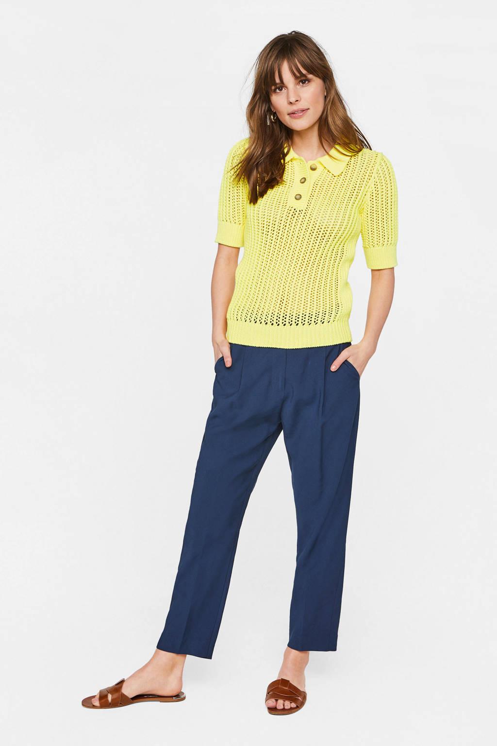 WE Fashion grofgebreide trui geel, Geel
