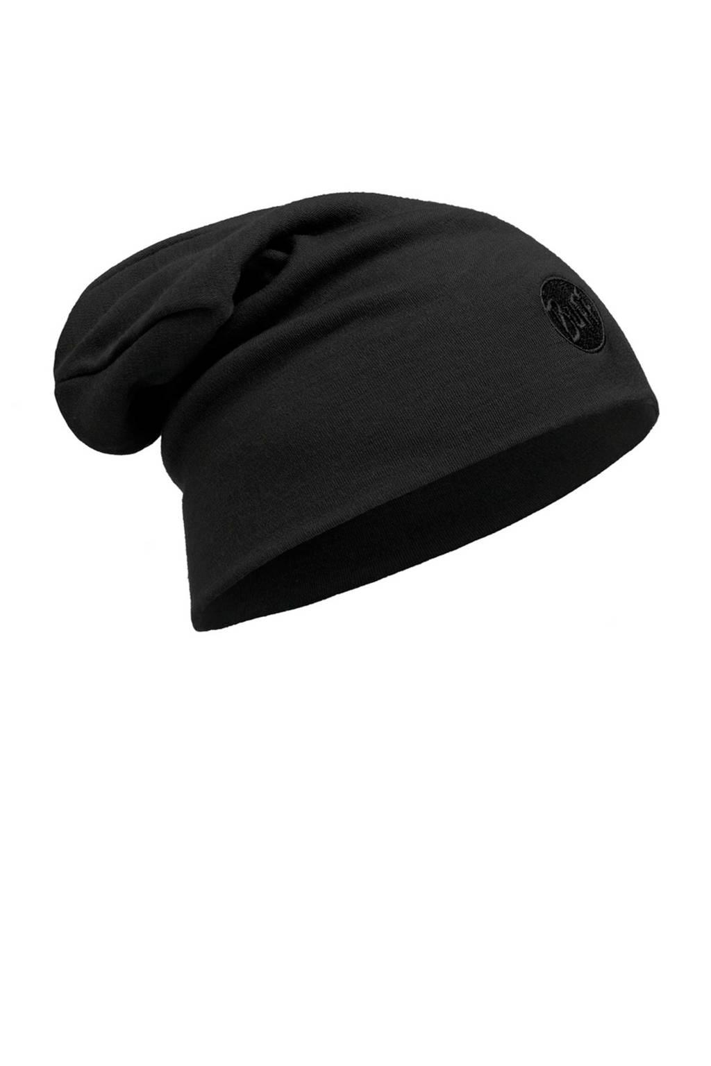 Buff Merino Wool muts zwart, Solid-Black
