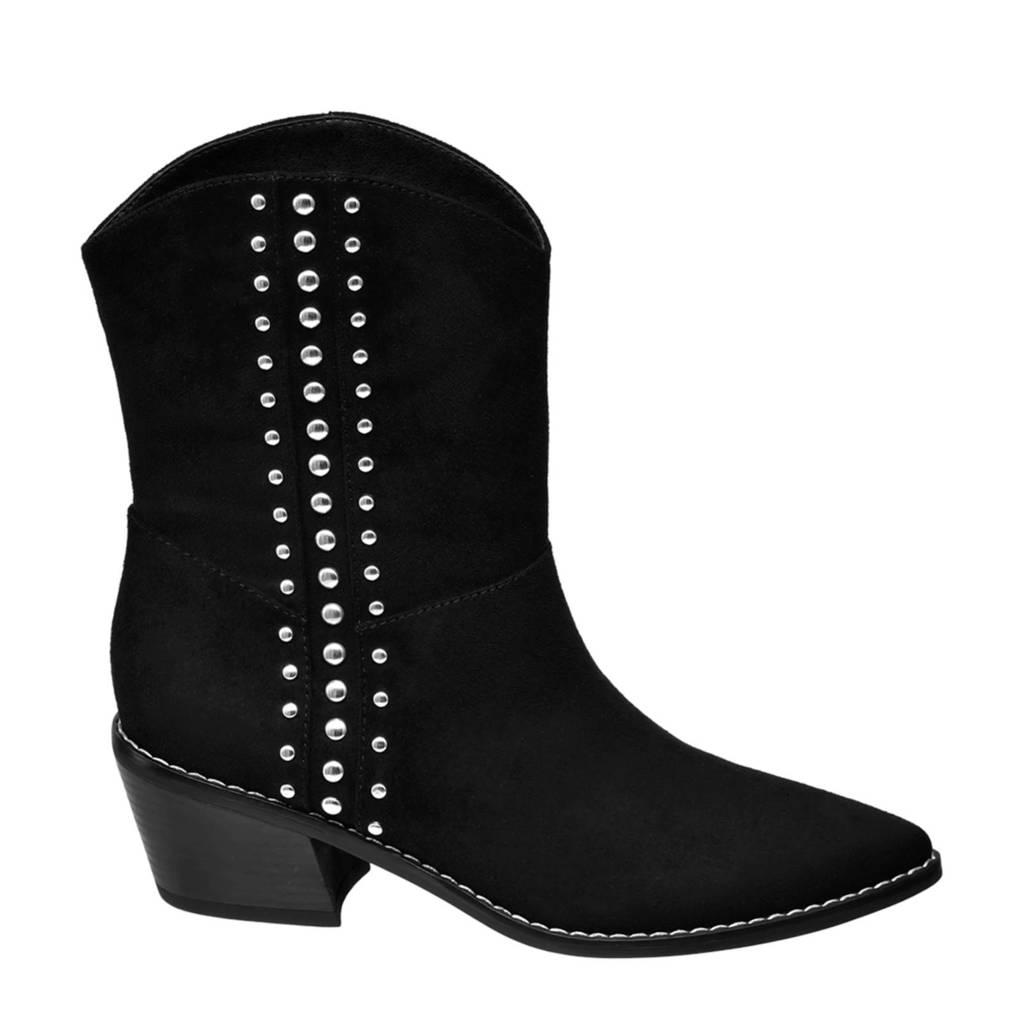 Graceland   cowboylaarzen met studs zwart, Zwart