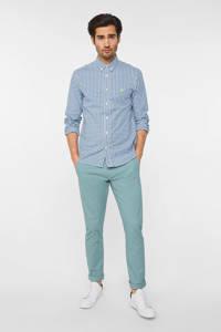 WE Fashion WE Fashion slim fit chino grijsgroen, Blauw